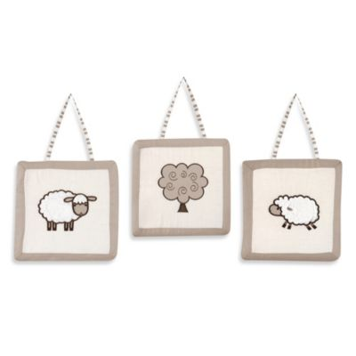 Sweet Jojo Designs Little Lamb 3-Piece Wall Hangings