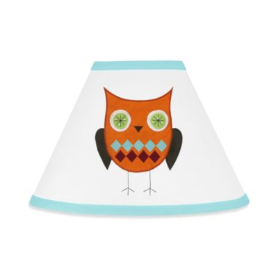 Sweet Jojo Designs Hooty Lamp Shade in Turquoise/Lime