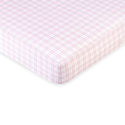 Sweet Jojo Designs Pretty Pony Fitted Crib Sheet in Plaid