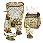 Crystal Bell Gold Waste Basket