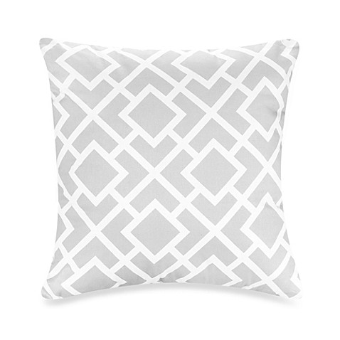 Sweet Jojo Designs Diamond Throw Pillow In Grey White