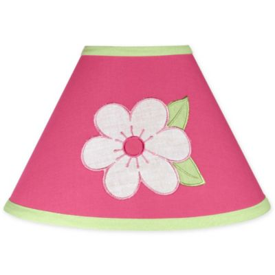 Sweet Jojo Designs Flower Lamp Shade in Pink/Green
