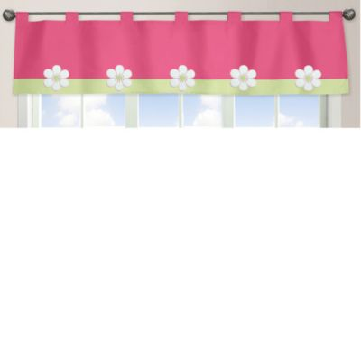 Sweet Jojo Designs Flower Window Valance in Pink/Green