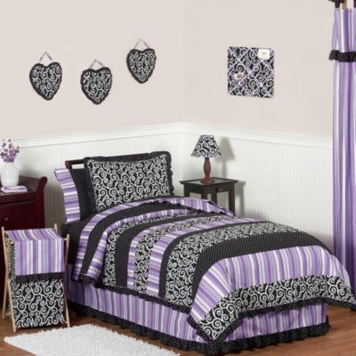 Sweet Jojo Designs Kaylee 4-Piece Twin Comforter Set