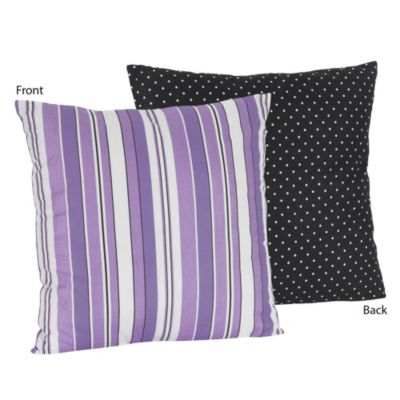 Sweet Jojo Designs Kaylee Decorative Accent Toss Pillow in Stripe and Dot Print