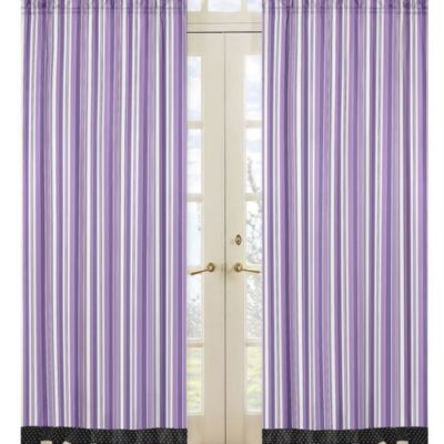 Sweet Jojo Designs Kaylee Window Panel Pair in Stripe Print