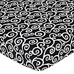 Sweet Jojo Designs Kaylee Fitted Crib Sheet in Scroll Print