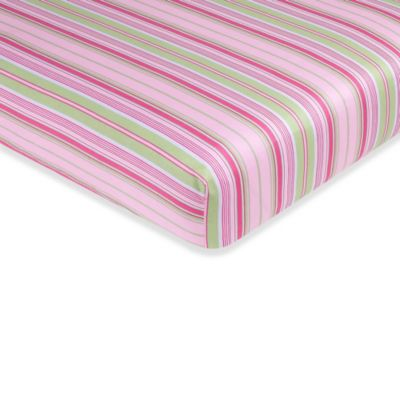 Sweet Jojo Designs Jungle Friends Fitted Crib Sheet in Stripe Print