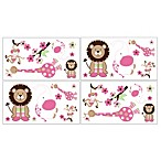 Sweet Jojo Designs Jungle Friends Wall Decals (Set of 4)