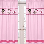 Sweet Jojo Designs Jungle Friends Window Panels in Pink (Set of 2)