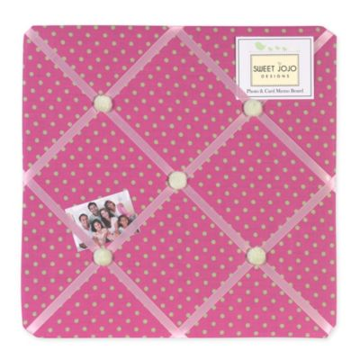 Sweet Jojo Designs Jungle Friends Fabric Memo Board in Pink