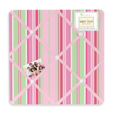 Sweet Jojo Designs Jungle Friends Fabric Memo Board in Stripe Print