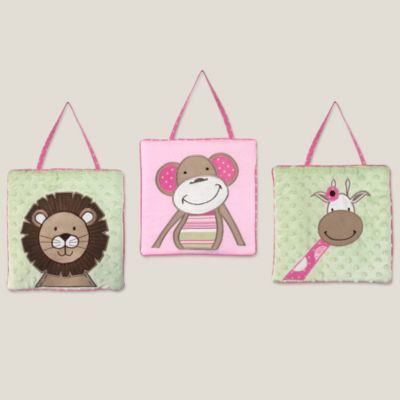 Sweet Jojo Designs Jungle Friends Wall Hanging (Set of 3)