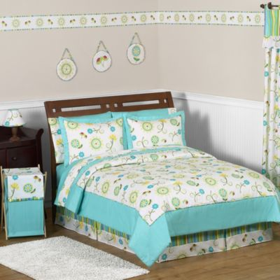 Sweet Jojo Designs Layla 4-Piece Twin Comforter Set
