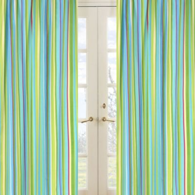 Sweet Jojo Designs Layla Striped Window Panel Pair