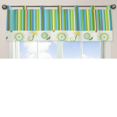 Sweet Jojo Designs Layla Striped Window Valance
