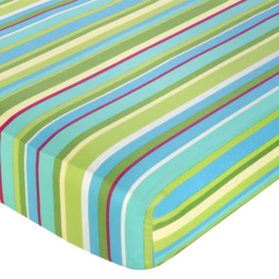 Sweet Jojo Designs Layla Striped Fitted Crib Sheet