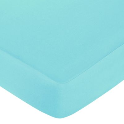 Sweet Jojo Designs Layla Fitted Crib Sheet in Turquoise
