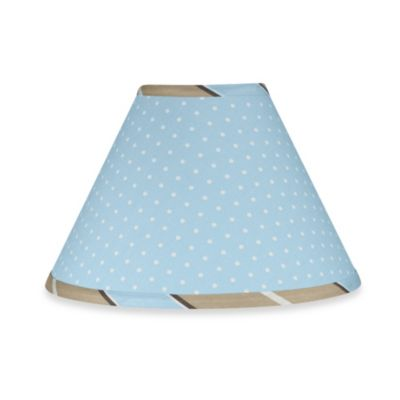 Sweet Jojo Designs Mod Dots Lamp Shade in Blue/Chocolate