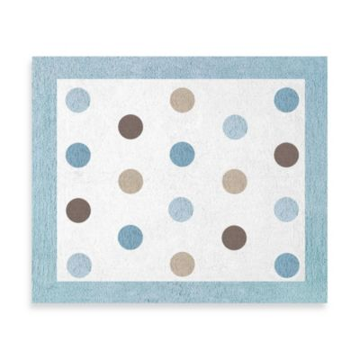 Sweet Jojo Designs Mod Dots 36-Inch x 30-Inch Accent Rug in Blue/Chocolate