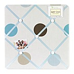 Sweet Jojo Designs Mod Dots Fabric Memo Board in Blue/Chocolate