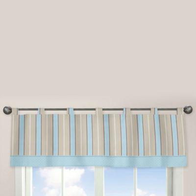 Sweet Jojo Designs Mod Dots Window Valance in Blue/Chocolate