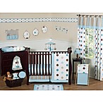 Sweet Jojo Designs Mod Dots Crib Bedding Collection in Blue/Chocolate