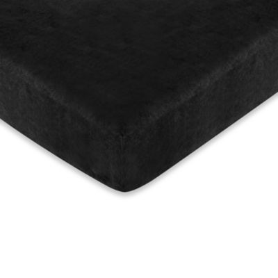 Sweet Jojo Designs Minky Dot Fitted Crib Sheet in Black