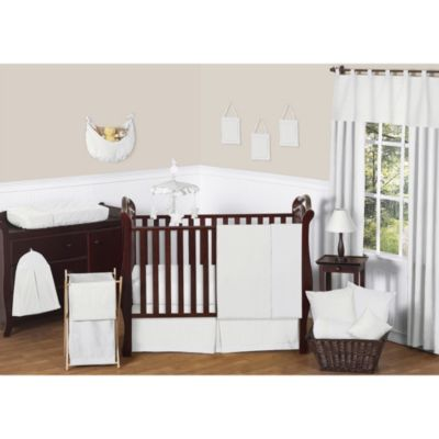 Sweet Jojo Designs Minky Dot 11-Piece Crib Bedding Set in White