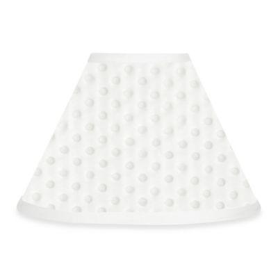 Sweet Jojo Designs Minky Dot Lamp Shade in White