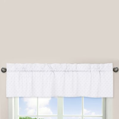 Sweet Jojo Designs Minky Dot Window Valance in White