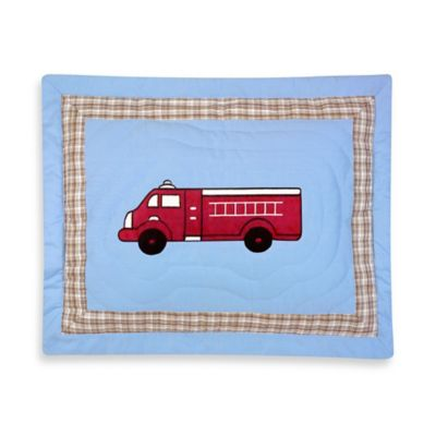 Sweet Jojo Designs Frankie's Fire Truck Standard Pillow Sham