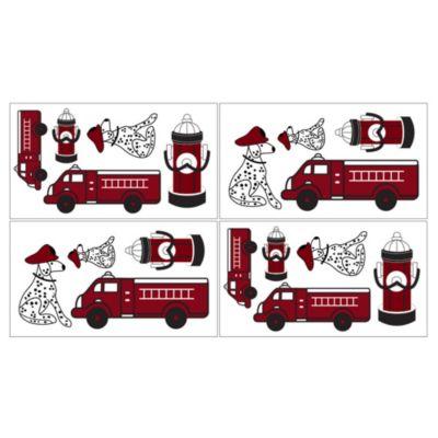 Sweet Jojo Designs Frankie's Fire Truck Wall Decals