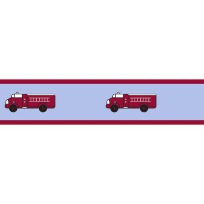 Sweet Jojo Designs Frankie's Fire Truck Wallpper Border