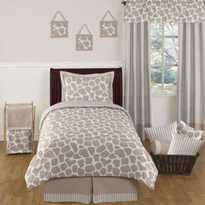 Sweet Jojo Designs Giraffe 4-Piece Twin Bedding Set