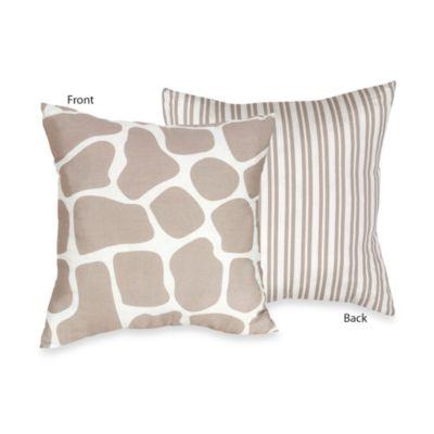 Sweet Jojo Designs Giraffe Toddler Bedding Collection > Sweet Jojo Designs Giraffe Decorative Throw Pillow