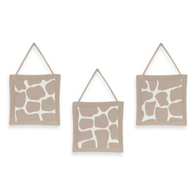 Sweet Jojo Designs Giraffe 3-Piece Wall Hanging Set