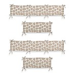 Sweet Jojo Designs Giraffe 4-Piece Crib Bumper