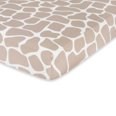 Sweet Jojo Designs Giraffe Fitted Crib Sheet in Animal Print