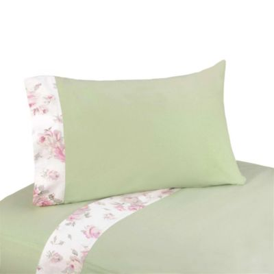 Sweet Jojo Designs Riley's Roses 3-Piece Twin Sheet Set