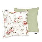Sweet Jojo Designs Riley's Roses Decorative Toss Pillow