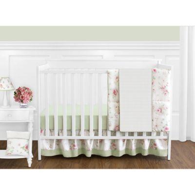 Sweet Jojo Designs Riley's Roses 11-Piece Crib Bedding Set
