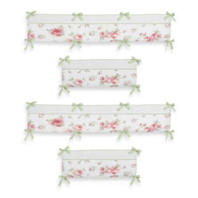 Sweet Jojo Designs Riley's Roses 4-Piece Crib Bumper
