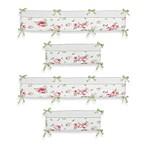 Sweet Jojo Designs Riley's Roses 4-Piece Crib Bumper