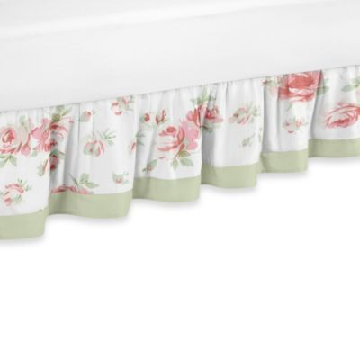 Sweet Jojo Designs Riley's Roses Toddler Bed Skirt