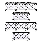 Sweet Jojo Designs Princess Crib Bumper in Black/White