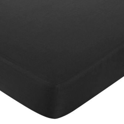 Sweet Jojo Designs Princess Fitted Crib Sheet in Black/White