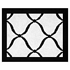 Sweet Jojo Designs Princess Floor Rug in Black/White