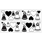 Sweet Jojo Designs Princess Wall Decals in Black/White