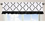Sweet Jojo Designs Princess Window Valance in Black/White